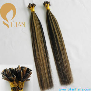 Multicolor 1b#/27# Flat Tip Human Hair Extension pictures & photos