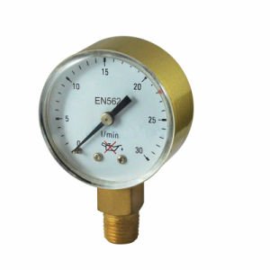 Medical LPG Oxygen Pressure Gauge pictures & photos