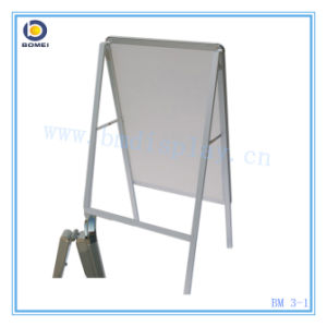 Aluminum Poster Stand with Single Side, a Frame, Pavement Sign, a Board, Free Standing Poster Stand