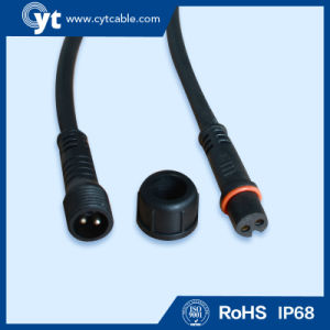M 15 White and Black IP68 Waterproof Connector Cable for LED Lighting pictures & photos
