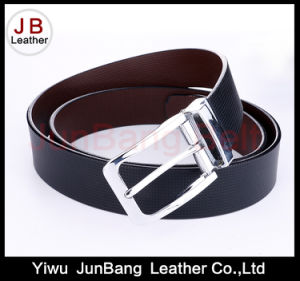 Factory Customized PU Belt Reversible Buckle for Men