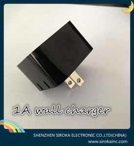 Black High Quality Us Plug 5V 2.1A Dual USB Wall Charger pictures & photos