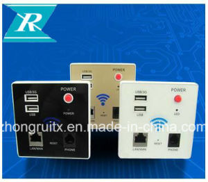 Smart Home LAN RJ45 Outlets WiFi Plugin 802.11 Wall Socket with USB Ports Smart Internet Wall Outlet