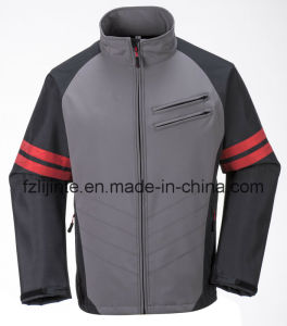 Men′s Softshell Workwear Waterproof Jacket with Reflective Tapes pictures & photos