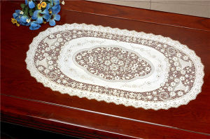 40*84cm PVC Vinyl Lace Gold Placemat pictures & photos