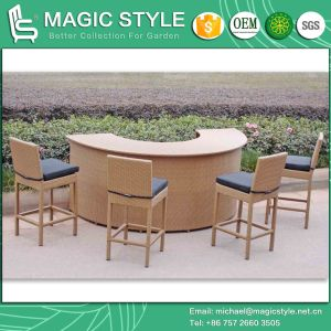 Rattan Bar Set Wicker Bar Stool Outdoor Bar Table Patio Bar Chair (Magic Style) pictures & photos