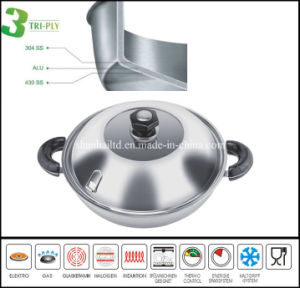 3ply Chinese Induction Wok pictures & photos
