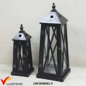 2 Set Antique Cast Wood Candle Lantern pictures & photos
