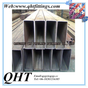 High Quality Hollow Section Black Rectangular Steel Pipe pictures & photos