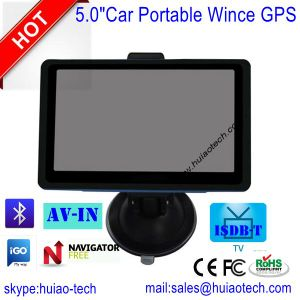 """New Popular 5.0"""" Dash Car GPS Navigation with 8GB Flash, FM-Transmitter, Bluetooth, AV-in pictures & photos"""