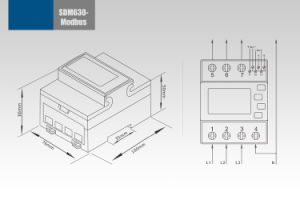 Single and Three Phase Multifunction DIN Rail RS485 Modbus Energy Meter Sdm630-Modbus pictures & photos