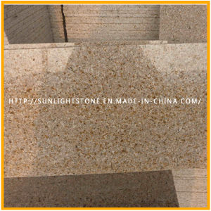 Cheap G682 Sunset Gold Misty Yellow Granite Flooring Tiles pictures & photos