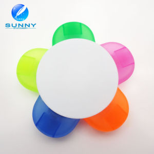 5 in 1 Flower Shape Plastic Highlighter Marker for Promotion Gifts pictures & photos