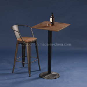 Vintage Style Industrial Metal Bistro Bar Table (SP-BT702) pictures & photos
