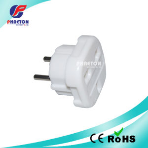 2pin Round Power Travel AC DC Adaptor Plug pictures & photos