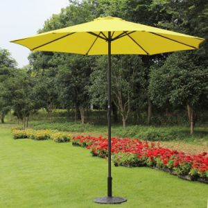 9 Foot Decorative Market Umbrella with Crank and Tilt (Yellow)