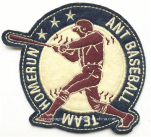 Baseball Team Uniform Adhesive Embroidery Arm Badge pictures & photos