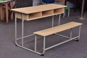 Wooden 3 Seats Combo School Desk Bench (SF-40D) pictures & photos