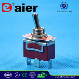 on- (ON) Two Way Spring Loaded Toggle Switch (KN3(C)-112P) pictures & photos