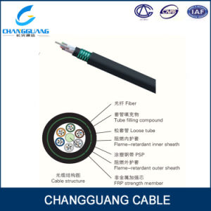 Fire Resistant Central Loose Tube Fiber Optic Cable Gjfzy53