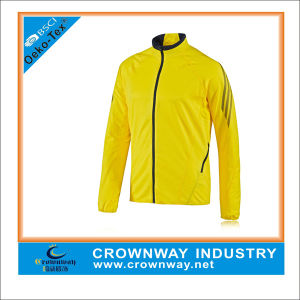Winter Yellow Waterproof Outdoor Running Jacket for Sports pictures & photos