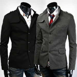 Men Single-Breasted Slim Suit Jacket Blazer pictures & photos