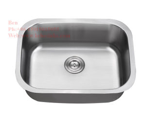 "23-1/4"" X 17-3/4"" Stainless Steel Under Mount Single Bowl Kitchen Sink pictures & photos"