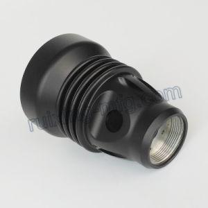 Precision Machining Aluminum Lamp Housing for LED Flashlight