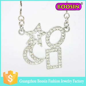 Handmade Turkish Jewelry Crystal Crescent Moon Charm Pendant Necklace pictures & photos