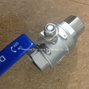 BSPT/Bsp/NPT Male Thread End 2PC Ball Valve pictures & photos