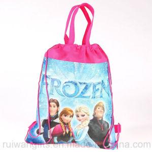 Non-Woven Drawstring Bag in Frozen Cartoon Style pictures & photos