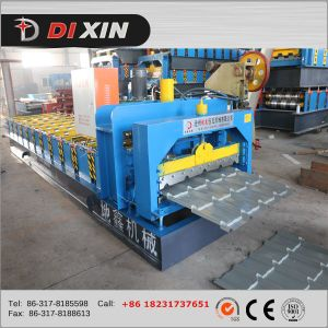 Dx European Style Colour Steel Glazed Tile Roll Forming Machine pictures & photos