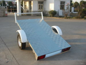 Tilting ATV Trailer Q340 with Checkered Plate Base