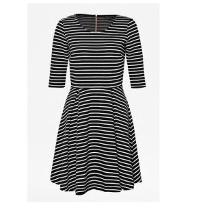 Rayon Fabric Long Striped Lady′s Dress pictures & photos