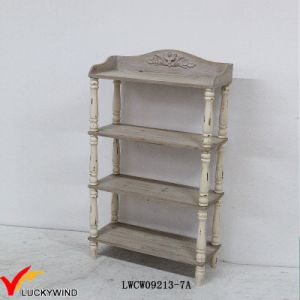 Floor Standing Antique Wooden 4 Tier Display Shelf pictures & photos