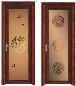 Wooden Color Aluminum Frame Casement Door pictures & photos