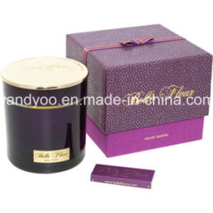 Scented Soy Colored Glass Jar Luxury Candle with Purple Box pictures & photos