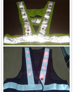 Work Safety Vest with LED Lights pictures & photos