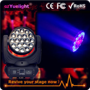 Guangzhou Hot Sale 19PCS LED Moving Head Zoom Light pictures & photos