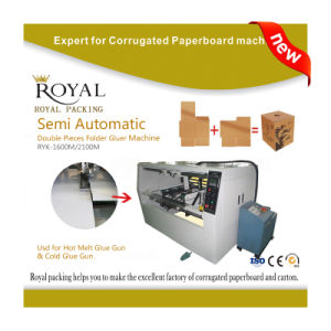 2 Piece Rsc Carton Folder, Box Folder Gluer Machine pictures & photos