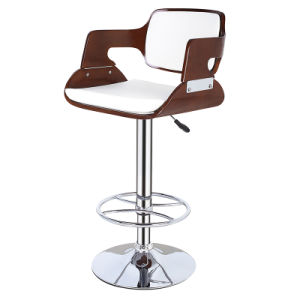 Restaurant Coffee Swivel Wooden Bar Stools Chair with Arm (FS-WB951) pictures & photos