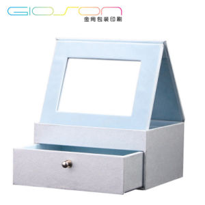 Cardboard Folding Drawer Gift Cosmetic Box with Mirror pictures & photos