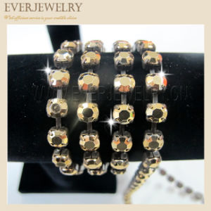 Wholesale Rhinestone Cup Chain, Rhinestone Chain Gold, Shoe Accessories Golden Gold pictures & photos
