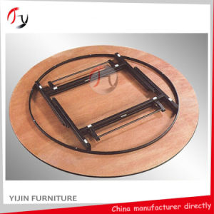 Foldable Round Wedding Hotel Restaurant Banquet Table (BT-01-1) pictures & photos