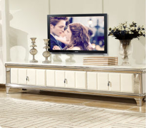 Noble Style Marble TV Stand with Stainless Steel Base (TVS-001) pictures & photos