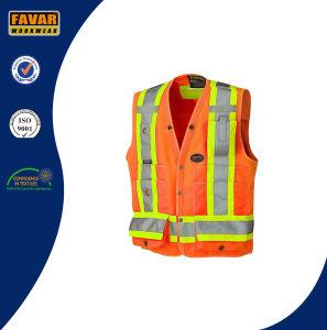 Hi Viz 150d Polyester Surveyor′s Safety Vest