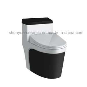 Ceramic One-Piece Toilet Color Toilet Siphonic Flushing S-Trap (A-009) pictures & photos