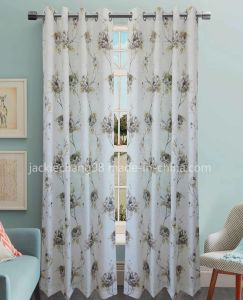 Printed Faux Linen Grommet Panel -The Plum Blossom (HR14WT106) pictures & photos