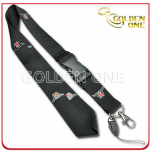 Custom Branded Polyester Webbing Neck Ribbon with Metal Clip pictures & photos