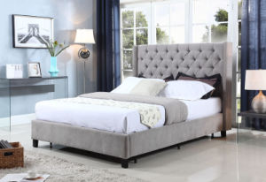 Modern Bedroom Furniture Fabric Wooden Bed